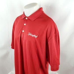 Nike Golf Mens Polo Shirt Sz XL S/S Red Yuengling